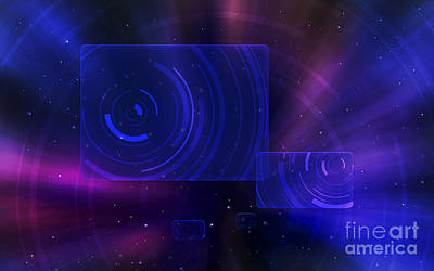 Constellation Digital Art - Digitally Generated Image Of A Space by Vlad Gerasimov