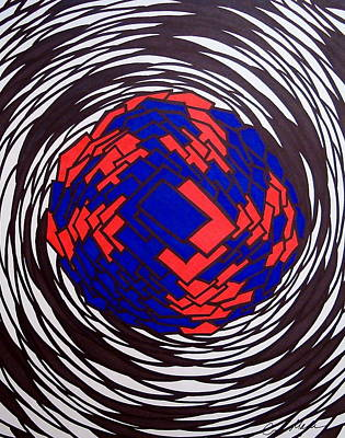 Abstract Shapes Drawing - Dimension by Eric Major