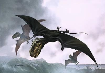 Dinosaur Painting - Dimorphodon by William Francis Phillipps