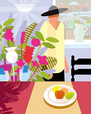 Anticipation Digital Art - Dining Room by Charles Harker