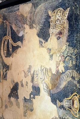 Dionysos Riding Panther Print by Andonis Katanos