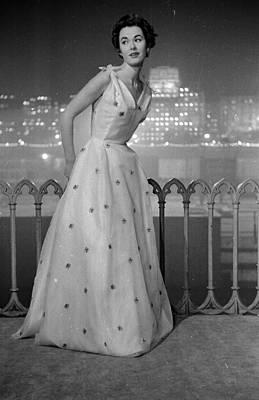 Evening Gown Photograph - Dior Ball Gown by Kurt Hutton