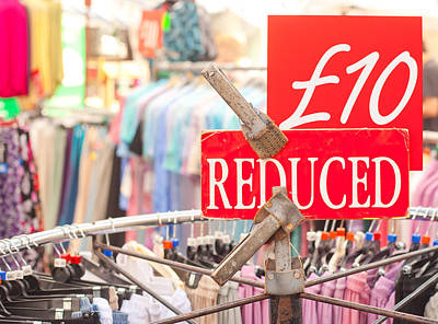 Clothes Clothing Photograph - Discount Clothing by Tom Gowanlock