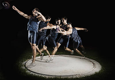 Feild Photograph - Discus Thrower by Mike Raabe