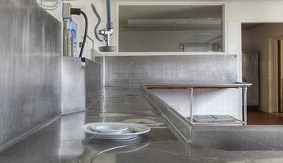 Tableware Photograph - Dish Washing Area Of Commercial Kitchen by Douglas Orton