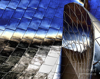 Disney Hall Architectural Print by Chuck Kuhn