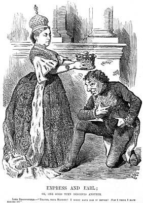 Disraeli Cartoon, 1876 Print by Granger
