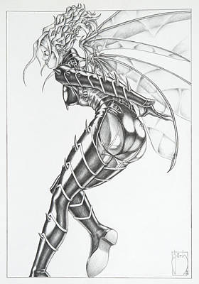 Manga Drawing - Diva - The Queen Wasp by Sean Smith