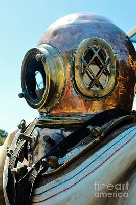 Dive Helmet Print by Rene Triay Photography