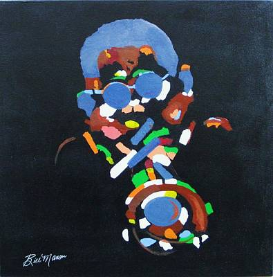 Music Themed Art Painting - Dizzy by Bill Manson