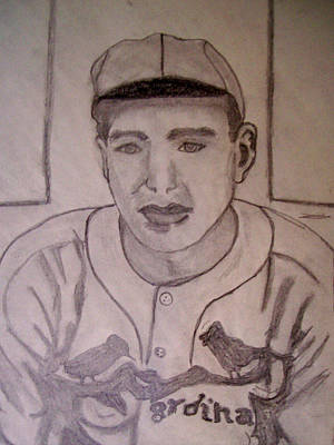Dizzy Dean Cardinals Pitcher Print by De Beall