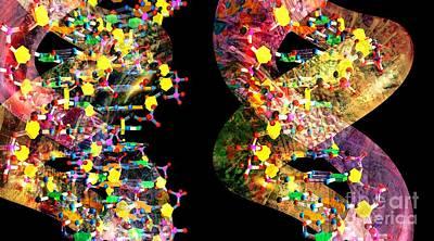 Biochemical Digital Art - Dna Dreaming 1 by Russell Kightley