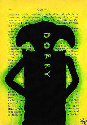 Icon Drawing - Dobby Silhouette by Jera Sky