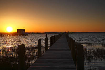 Dock On The Bay Print by Steven Ainsworth