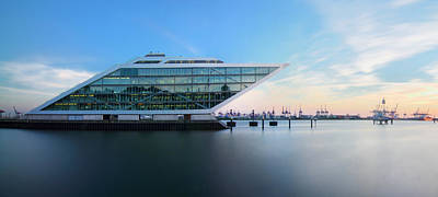 Dockland Evening Print by Marc Huebner