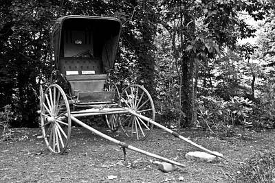 White Photograph - Doctor's Buggy by Betsy C Knapp