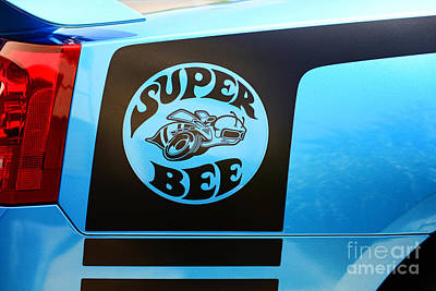 Super Bee Photograph - Dodge Charge Super Bee Logo  by Paul Ward