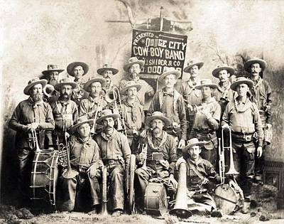 Dodge City Cow-boy Band Print by Everett