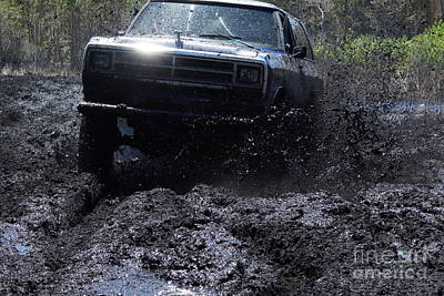 Dodge Ramcharger In Local Mud Print by Lynda Dawson-Youngclaus