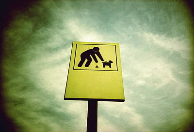 Dog Fouling Sign Print by Kevin Curtis