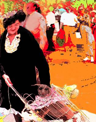Dog Lady Original by Alice Ramirez