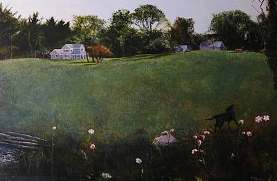 Egg Tempera Painting - Doggy's World by Rick Hildebrandt