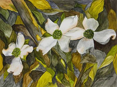Dogwoods Print by Mary Ann King
