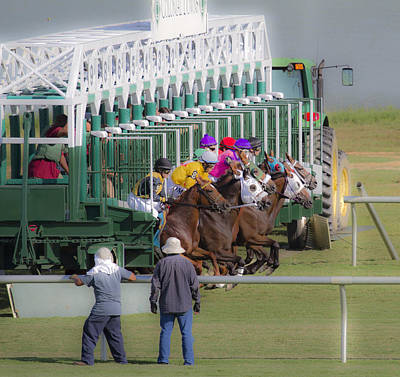 Jockey Photograph - Doing Our Best by Betsy C Knapp