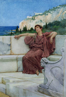 Alma-tadema Sir Lawrence 1836-1912 Painting - Dolce Far Niente by Sir Lawrence Alma-Tadema