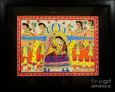 Madhubani Painting - Doli Kahar by Aprajita Jha