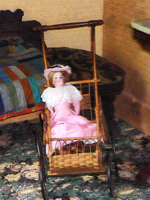 Nostalgia Photograph - Doll In Carriage by Susan Savad