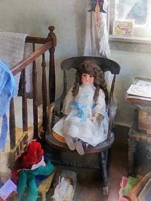 Doll In Nursery Print by Susan Savad