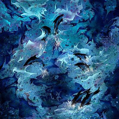 Dolphin Enchantment Print by Rachel Christine Nowicki