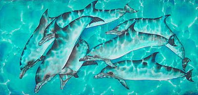 Dolphin Pod Print by Daniel Jean-Baptiste