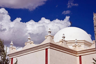 Dome Of The Mission San Xavier Print by Jon Berghoff