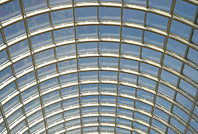 Domed Glass Roof, Low Angle View, Ful Frame Print by Liz Whitaker