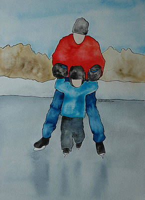 Don't Let Go Dad Print by Twyla Wehnes