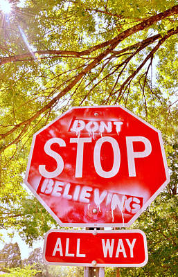 Don't Stop Believing Print by Victoria Lawrence
