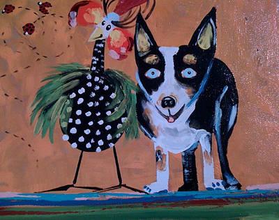 Blue Healer Painting - Doobie And Me by Madison Latimer