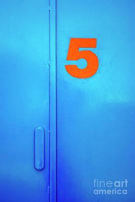 Door Five Print by Carlos Caetano
