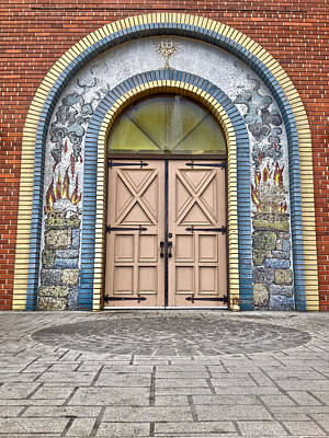 Doors Of Faith  Print by JC Photography and Art