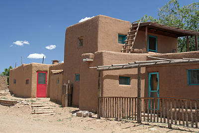 Elizabeth Rose Photograph - Doors Of Taos Pueblo by Elizabeth Rose
