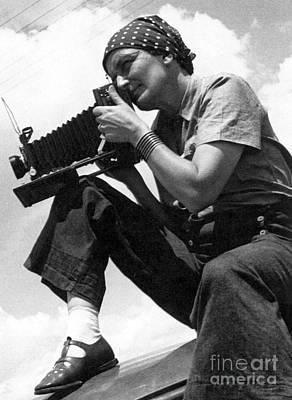 Self-portrait Photograph - Dorothea Lange (1895-1965) by Granger