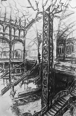 Installation Art Drawing - Dorsal Flow by Marc DAgusto
