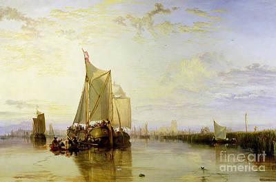 Dort Or Dordrecht - The Dort Packet-boat From Rotterdam Becalmed Print by Joseph Mallord William Turner