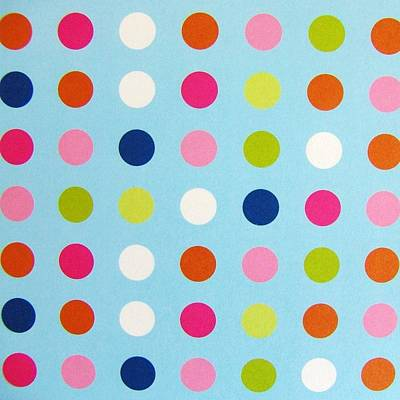 Dots On Blue Original by Florene Welebny