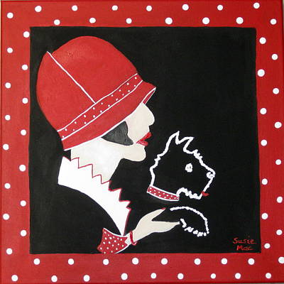 Dottie With The Scottie 1 Print by Susan McLean Gray