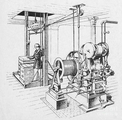 Double Oscillating Steam Engine Print by Science Source
