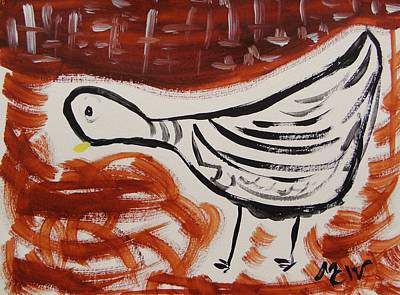 Simplicity Drawing - Dove And Red by Mary Carol Williams
