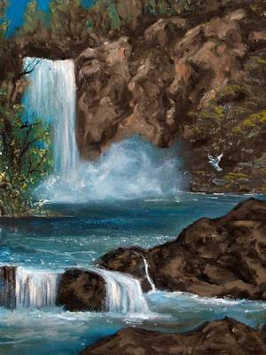 Landscape Painting - Dove Falls by Gloria Jean